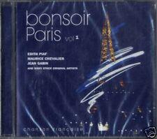 AA.VV.BONSOIR PARIS chanson française vol.1 CD Sealed