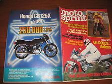 MOTOSPRINT 1981/43 PROVA SUZUKI GSX 1100 KATANA PUBBLICITA' HONDA CB 125 X