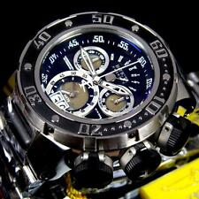 Invicta Reserve Subaqua Sea Dragon Swiss Black Chronograph Steel 52mm Watch New