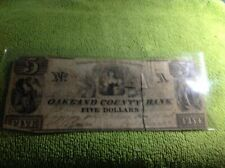 OBSOLETE THE OAKLAND COUNTY BANK OF PONTIAC MICHIGAN $5 note