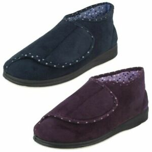 Ladies Padders Wide Fitting Boot Style Slippers Cherish
