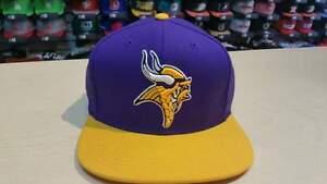 NFL Minnesota Vikings Team Logo 2 Tone Retro Snapback Cap Hat