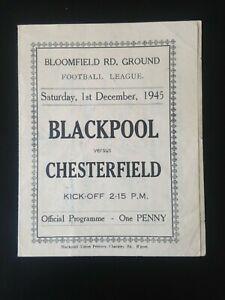 1945/6 BLACKPOOL V CHESTERFIELD