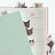 Cute Cat Bookmark Tag Label Post-it Sticky Notes 130sheet set Felissimo