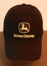 TRUCKER HAT JOHN DEERE Black Yellow Building Together Adjustable Baseball Cap