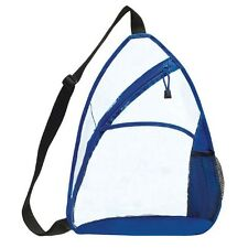 Transparent Sling Backpack Clear / Royal CBP-876
