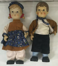 "Vintage 10.5"" Porcelain Hand Painted European Children Dolls"