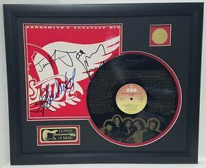 Aerosmith laser etched with lyrics limited edition vinyl framed record display