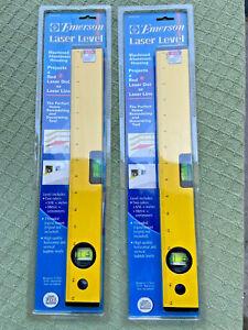 """2 PCS Emerson 15"""" Laser Level Model EMR 2060 Red Dot or Laser Line"""
