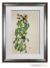 "Egon SCHIELE Lithograph Gouache ""Sunflowers"" 1917 LIMITED ED. +++Custom FRAMING"