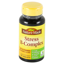 Nature Made Stress B-Complex Dietary Supplement With Vitamin C & Zinc, 75ct