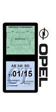 Porte vignette assurance OPEL double étui adhésif voiture Stickers auto rétro