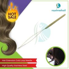 Gold Plated Loop Needles Hair Extension tools Feather Tools-Loop needle Gold