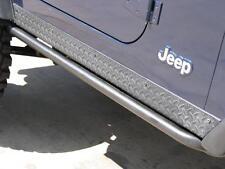 N-FAB Rock-Rails Side Step Bars - Matte Black 04-06 Jeep Wrangler LJ Unlimited