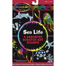 Melissa and Doug Sea Life Scratch Art - Arts and Crafts for Children