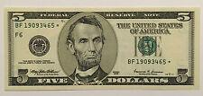 1999 $5 FIVE DOLLARS ATLANTA * STAR * 🌟 FRN, CRISP, NEW & UNCIRCULATED BANKNOTE