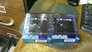 """spiderwire """"ice line"""", ice fishing, braided, 1#, 2 rolls,  free shipping"""
