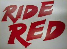 Factory Effex Honda Ride Red Sticker Decal CR CRF XR CB CBR TRX 250R 04-2674