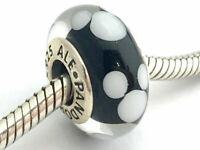 Authentic Pandora Sterling Silver Disney Classic Mickey Murano Glass Bead 791633