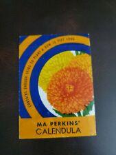 Vintage 1942 Calendula Oxydol  Ma Perkins Flower Seed Empty Packet