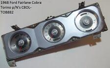 1968 Ford Fairlane Torino Cobra Speedometer Instrument Cluster P/n's C8OL-TOB882