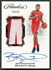 BRADLEY BEAL 2018 FLAWLESS RUBY 2-COLOR PATCH AUTO AUTOGRAPH /15 *WIZARDS STAR*