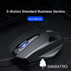 USB Wired Gaming Mouse 2400DPI Adjustable 6 Buttons LED Optical Professional