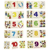 GOKI - 57594 - JOUET EN BOIS - PUZZLE - LES CHIFFRES ET ASSOCIATION D'IMAGE