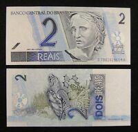 BRAZIL BRASIL Paper Money 2 Reais UNC
