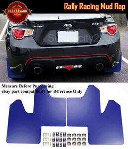 "15"" x 11.5"" 4 Pcs Blue Rally Racing Flexible Mud Flaps Splash Guard Fit Honda..."