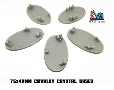 3D Printed - 75x42mm Cavalry Scenic Crystal Cluster Bases - Set of 5 Bases