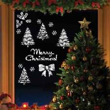 Christmas Window Stencils for Artificial Snow Sprays Merry Christmas Window Sign