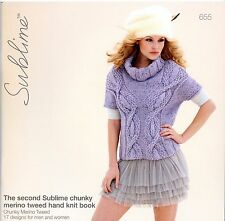 The Second Sublime Chunky Merino Tweed Hand Knit Book #655 - Knitting Patterns