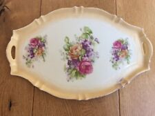 Vintage Dressing Table Tray Set Vanity Trinket Dish Cream Pink Ceramic Porcelain