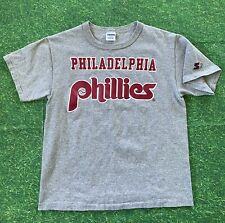 Vintage Starter Philadelphia Phillies T-Shirt Men Medium 1980s 80s Single Stitxh