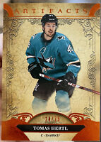 20-21 Upper Deck Artifacts Tomas Hertl Orange /75 San Jose Sharks #36