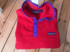 Patagonia Snap T Synchilla Polartec Pullover Fleece Jacket Made in USA M