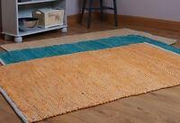 Fair Trade Handloom Zig Zag Thick Chindi Rag Rug Geometric Design 90cm x 150cm