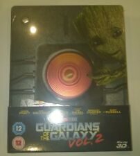 Guardians Of The Galaxy 2 Steelbook 3D & 2D UK Edition New Sealed Mint Fast Post