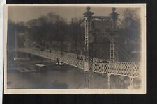 Chester - Painting the Suspension Bridge - real photographic postcard