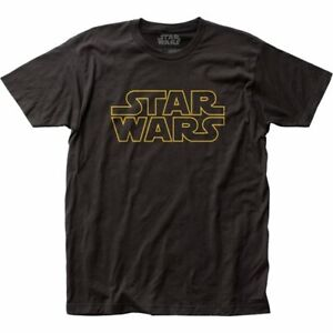 STAR WARS LOGO BLACK T-SHIRT SMALL SIZE 100% COTTON HIGH QUALITY MENS CLOTHES