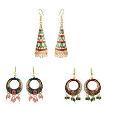 Hoop New Fashion Earrings Set Combo Indian Women Jewelry Gold Plated Jhumka