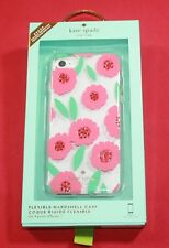 KATE SPADE IPHONE 7 CELL PHONE FLEXIBLE HARDSHELL CASE CUTE PINK FLORAL DESIGN