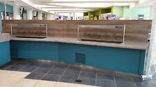 More details for cold food & drinks servery / buffet counter catering unit 540x100x140cm