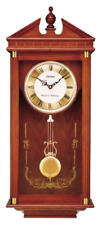 *BRAND NEW* Seiko Regal Oak Wall Clock with Pendulum QXH107BLH