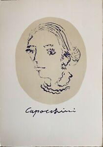 Ugo Capocchini litografia Figura 70x50 frontespizio cartella originale