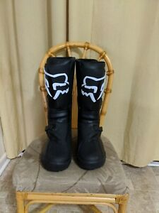 Fox Racing Comp X Boots Black And White Size Men US 14 EU 49