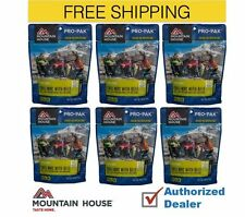 6 - Mountain House Freeze Dried Food Pouches - Chili Mac with Beef - Pro-Pak
