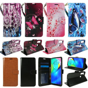 For Motorola Moto G Stylus 2020, PU Leather Wallet Phone Cover Flip Stand Strap