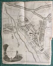 1794 Antique Map; City of Carlisle and Places Adjacent.